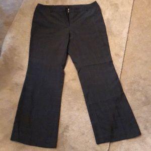 Worthington slacks in dark gray plaid- new